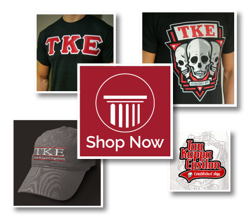 Shop for TKE Apparel<br />Accessories and More<br />Through FindGreek