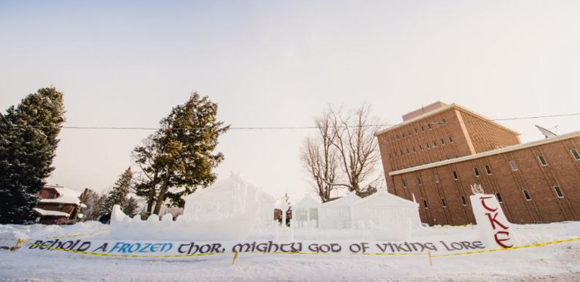 Tau Kappa Epsilon wins Michigan Tech Winter Carnival 2018 Snow Statue Competition