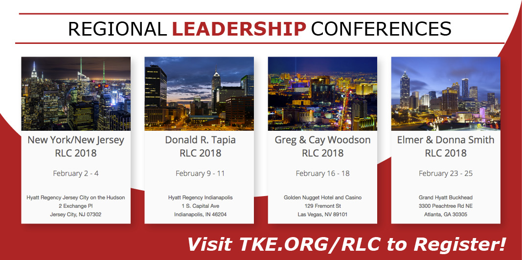 2018 Regional Leadership Conferences - Registration Open
