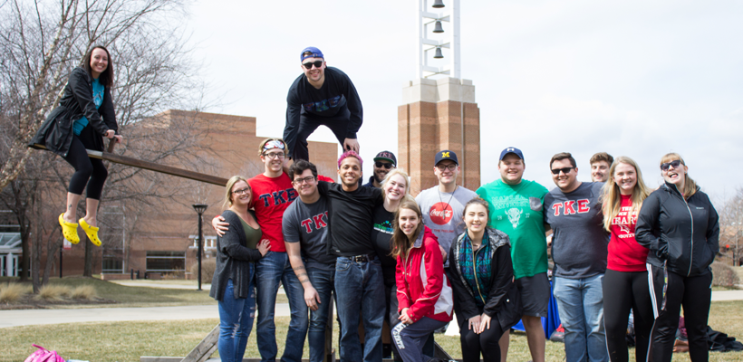 Active Minds, TKE partner in President's Courtyard to raise awareness