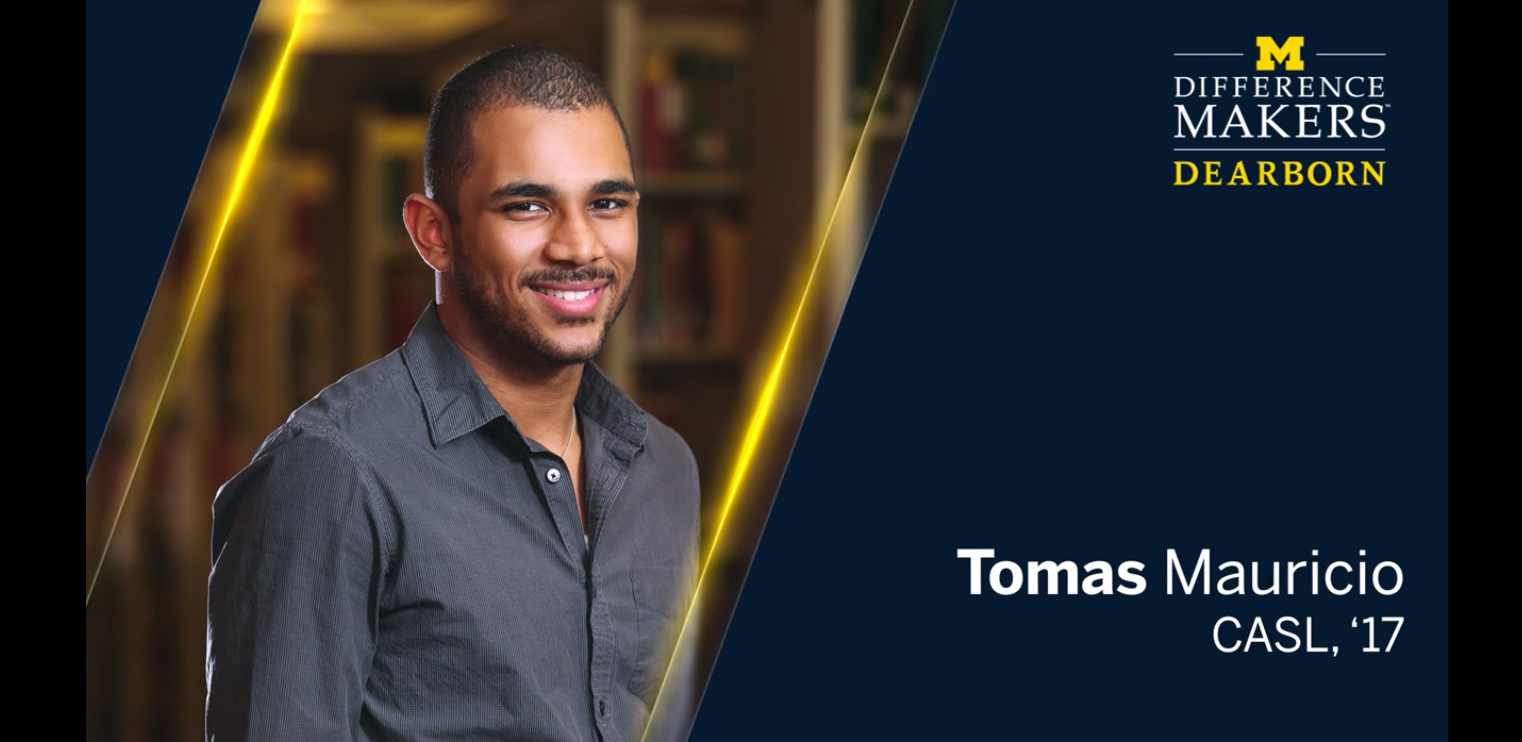 Frater Tomas Mauricio Named UM-Dearborn Difference Maker